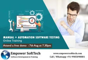 Software testing free demo at 7.00pm on 7th Aug 2020