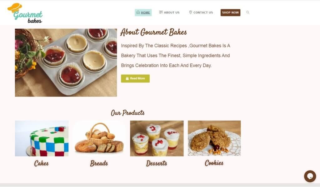 Gourmet-bakes-ecommerce-website