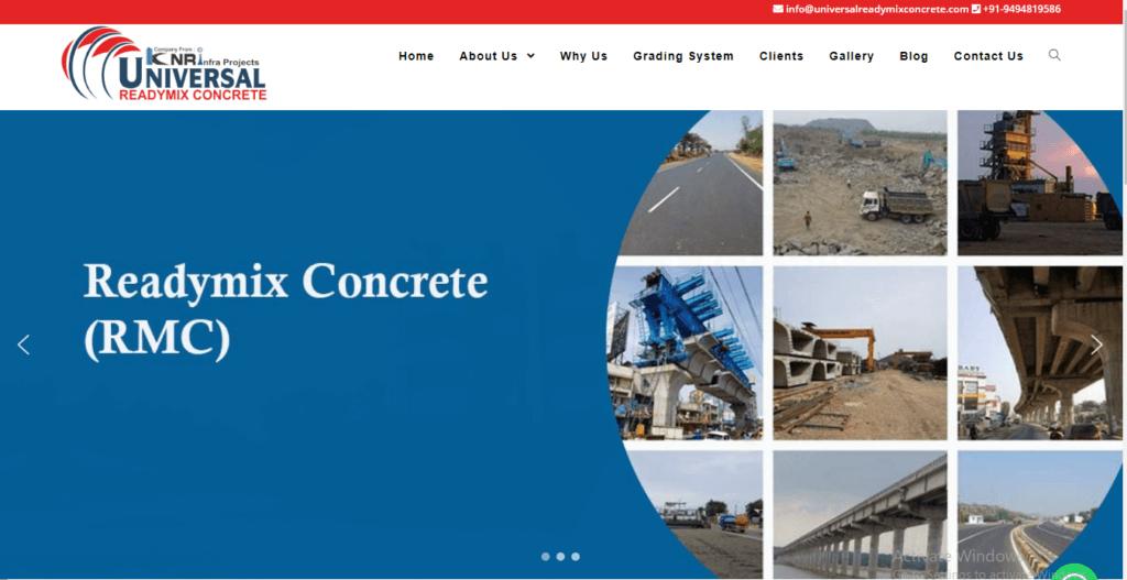 Empower-softtech-website-development-universal-readymix-concrete